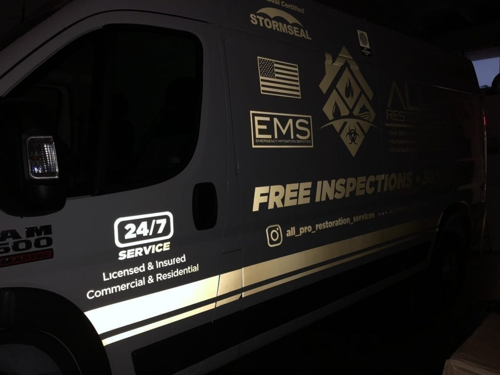 glow in the dark reflective vehicle wrap business wrapping advertising
