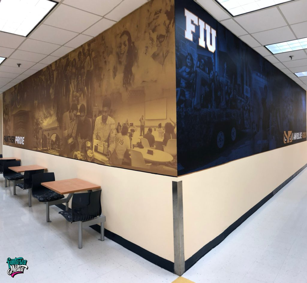 florida international university FIU wall wraps school university graphics by Fantasea Media
