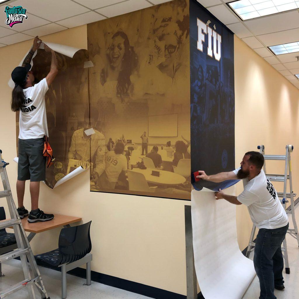 florida international university FIU interior school graphics installed by Fantasea Media