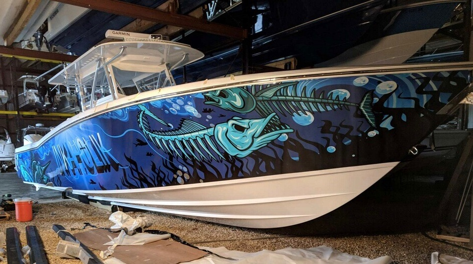 fantasea media boat wrap inkaholik tattoo