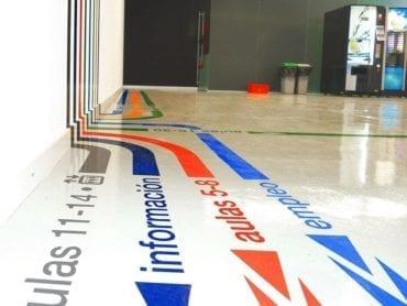 Floor Navigational Decals Wayfinding