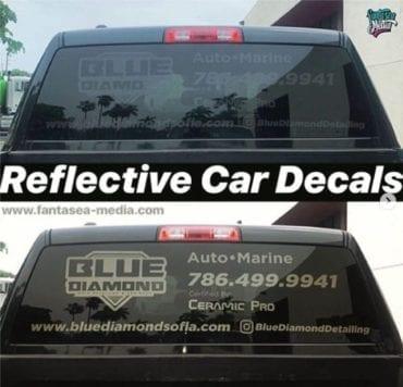 Black Reflective Decals www.Fantasea-Media.com