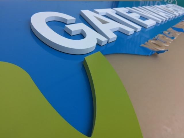 indoor storefront signage process gateway dental by fantasea media