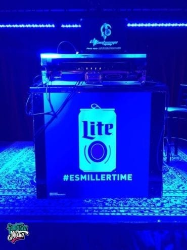Miller Lite Wrapped Stage Design by Fantasea Media