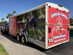 rear of box trailer truck vehicle wrap mobile billboard advertising miami florida