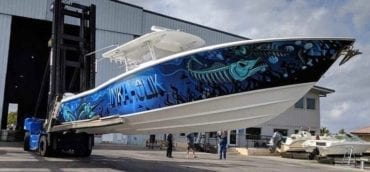 Marine Fishing Boat Vehicle Vinyl Wrap by Fantasea Media