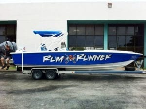 Rum Runner Marine Vehicle Boat Wrap by Fantasea Media