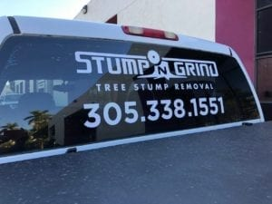 Tree Stump Removal Mobile Advertising Vehicle Wrap