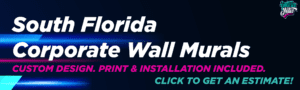 Corporate Wall Wrap Decal Vinyl for Business South Florida Miami