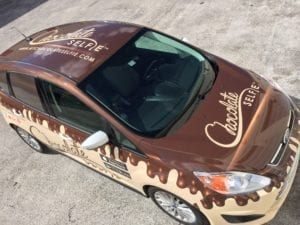 miami vehicle wrap chocolate drip sweet car wrap miami