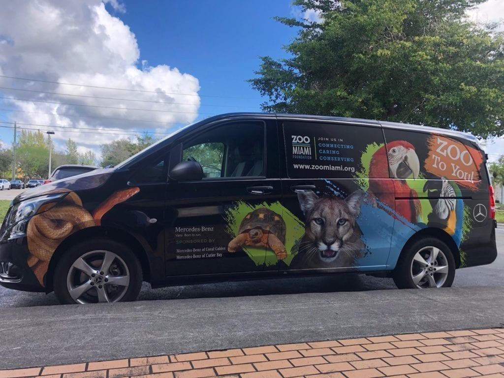 delivery van vehicle wraps fantasea media with photography zoo animals