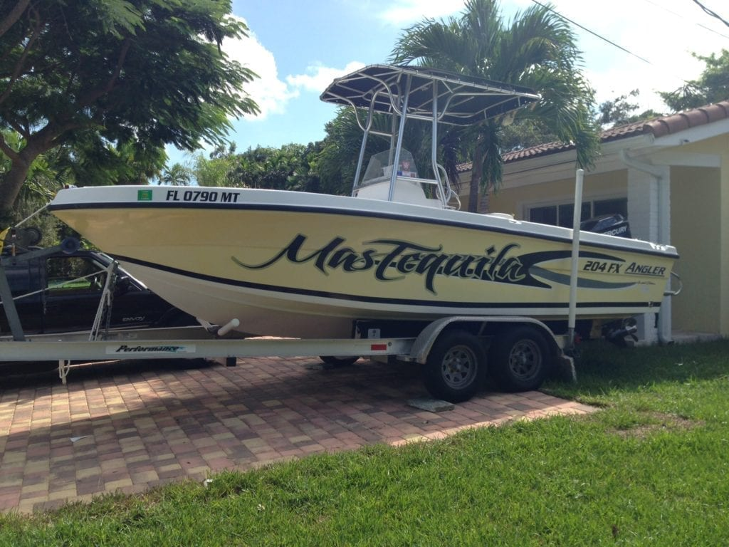 fantasea media miami boat wraps graphics vinyl
