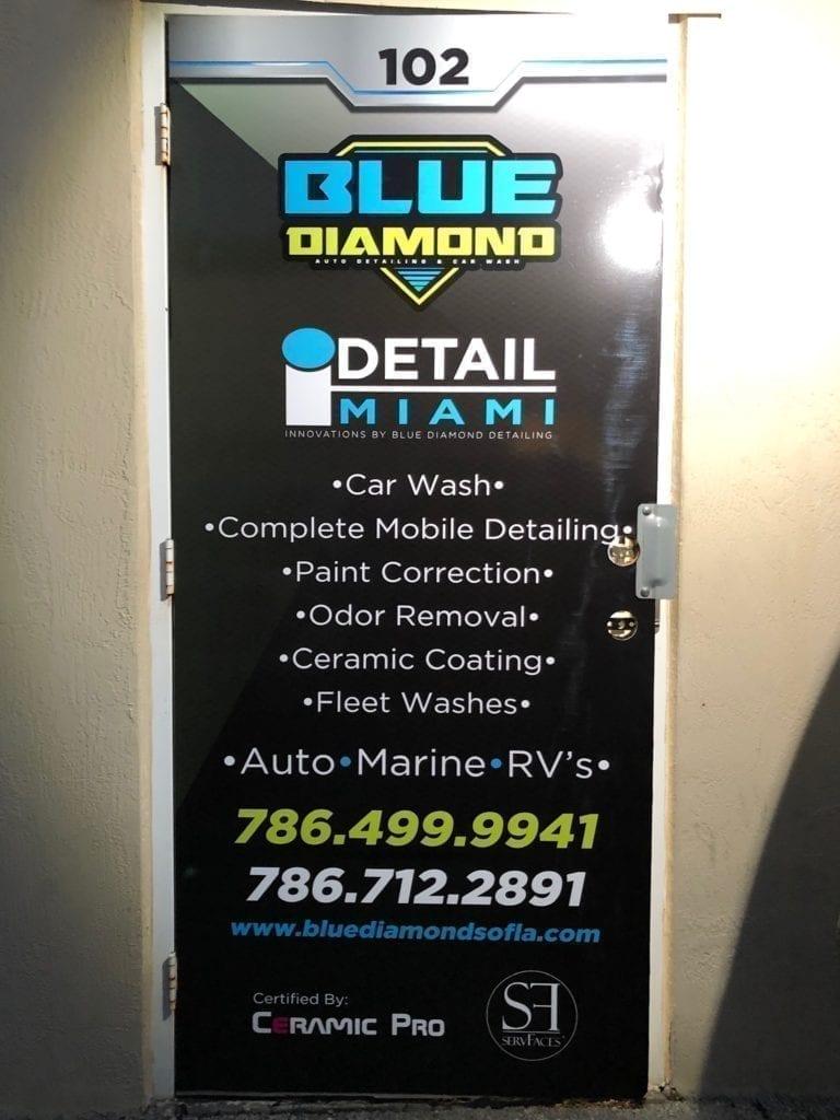 business branding advertising door sticker vinyl wrap