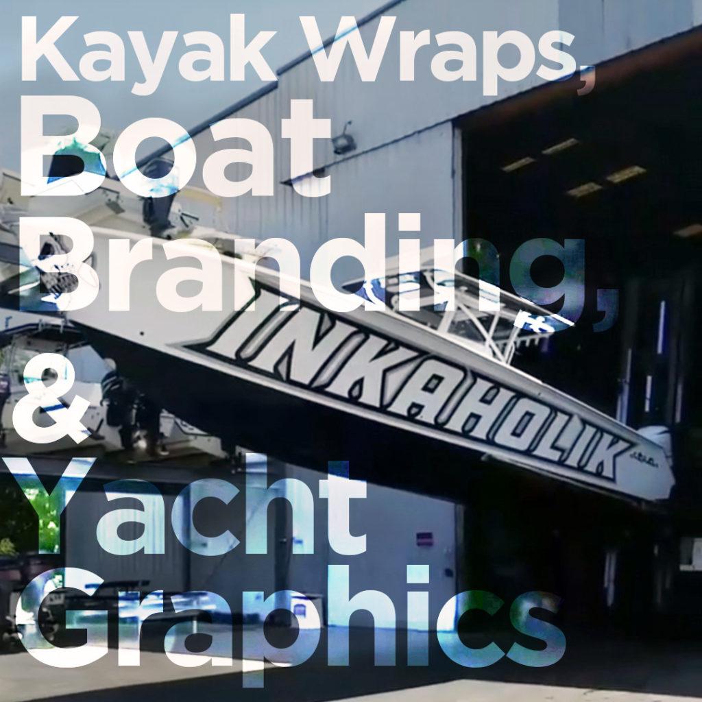 kayak wraps boat branding yacht graphics miami