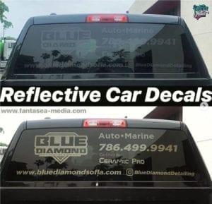 Black Reflective Decals Vehicle Wraps Fantasea Media Miami Beach
