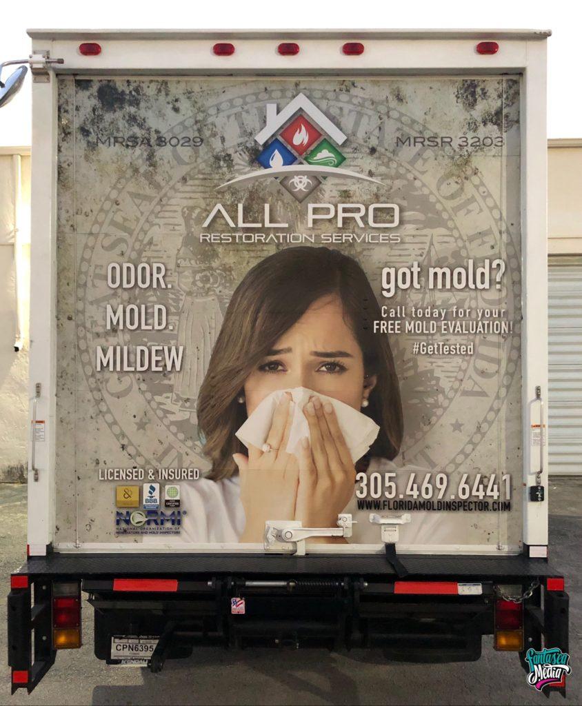 all pro reflective truck wrap illuminite vinyl wraps miami by fantasea media