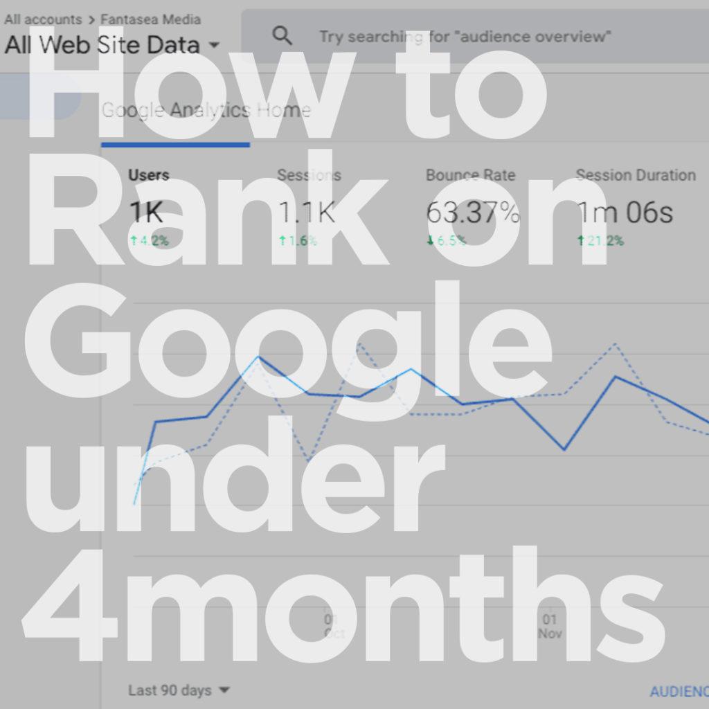 how to rank on google under 4 months blog fantasea media