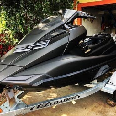 Matte Black Jet Ski Wrap Miami by Fantasea Media