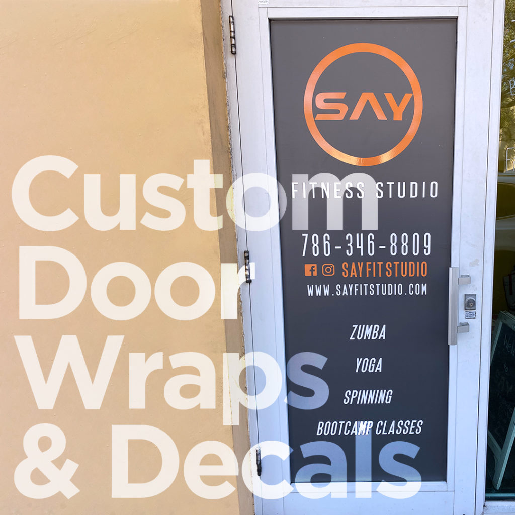 custom door wraps decals miami