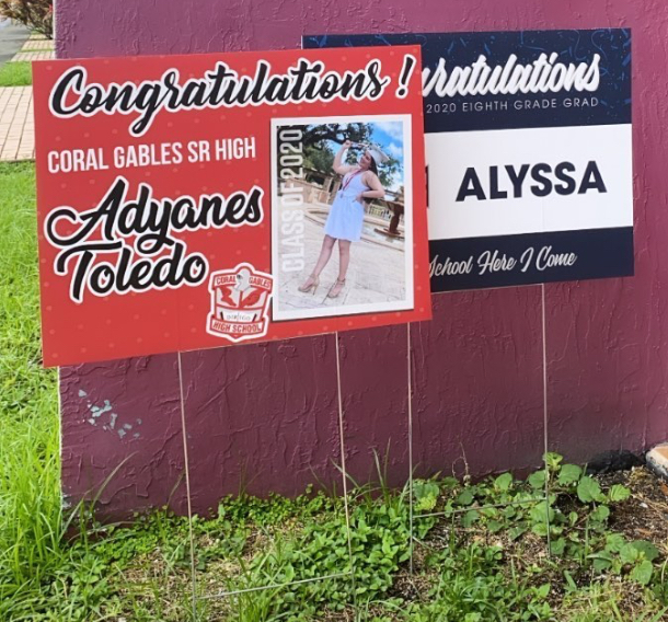 2020 graduate congratulations lawn signs miami by fantasea media