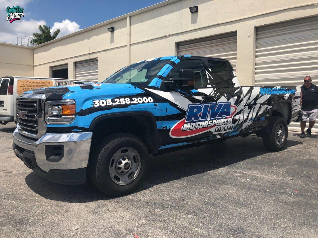 riva motorsports truck wrap by fantasea media