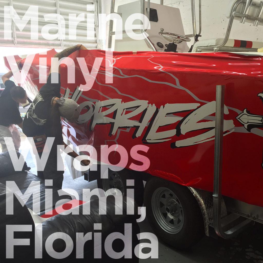 Marine Vinyl Wraps Miami Florida